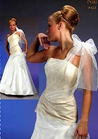 Красивейшее кружевное свадебное платье с восхитительным бантом на юбке и...
